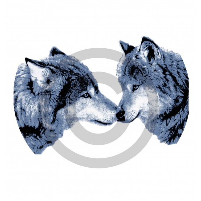 c7b81adfa8720 ... manches longues fille loups love Design d Oc. t-shirt blanc loups Design  d Oc
