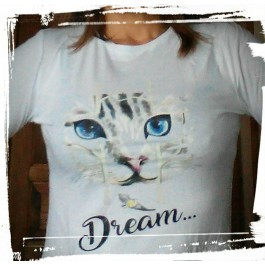694ac3e9e48b8 t-shirt fille chat filou collection Design d Oc