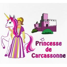 t-shirt princesse de Carcassonne Design d'Oc