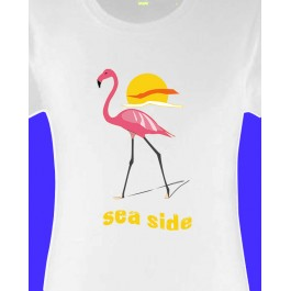 t-shirt femme flament rose Design d'Oc