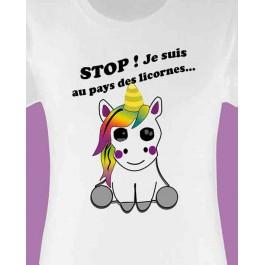 t-shirt femme licorne Design d'Oc